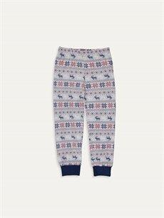 %100 Pamuk Erkek Çocuk Baskılı Pamuklu Pijama Takımı
