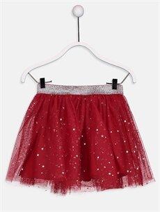 Kırmızı Kız Çocuk Yıldız Desenli Tütü Etek 9WG398Z4 LC Waikiki