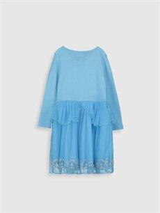 Kız Çocuk Kız Çocuk Çift Yönlü Payetli Frozen Elbise