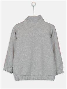 %48 Pamuk %52 Polyester  Kız Çocuk Fermuarlı Sweatshirt