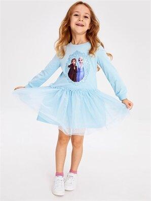 Kız Çocuk Frozen Baskılı Elbise - LC WAIKIKI