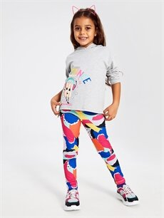 Kız Çocuk Kız Çocuk Desenli Uzun Tayt