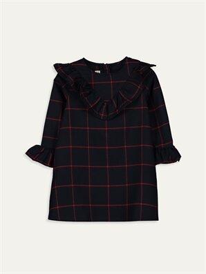 Kız Çocuk Fırfırlı Flanel Elbise - LC WAIKIKI