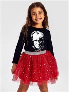 Kız Çocuk Kız Çocuk Atatürk Baskılı Pamuklu Tişört