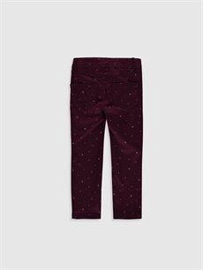 %68 Pamuk %29 Polyester %3 Elastan Dar Normal Bel Kız Çocuk Slim Gabardin Pantolon