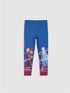 Mavi Kız Çocuk Frozen Baskılı Tayt 9WJ624Z4 LC Waikiki