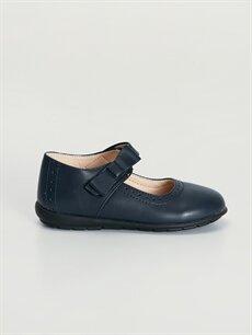 Lacivert Kız Çocuk Cırt Cırtlı Babet Ayakkabı 9WJ780Z4 LC Waikiki