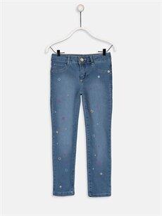 İndigo Kız Çocuk Slim Jean Pantolon 9WJ816Z4 LC Waikiki