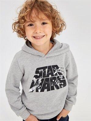 Erkek Çocuk Star Wars Kapüşonlu Sweatshirt - LC WAIKIKI