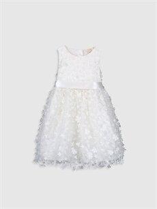 Beyaz Kız Çocuk Çiçekli Tütü Elbise 9WL395Z4 LC Waikiki
