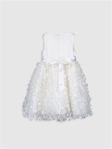 %100 Polyester %100 Polyester %100 Pamuk Diz Üstü Desenli Kız Çocuk Çiçekli Tütü Elbise
