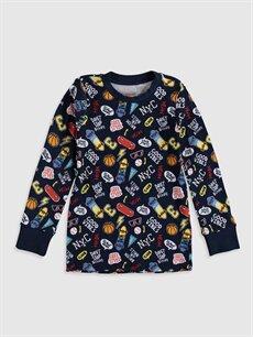 Erkek Çocuk Erkek Çocuk Baskılı Pamuklu Pijama Takımı
