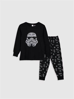 Erkek Çocuk Star Wars Baskılı Pamuklu Pijama Takımı - LC WAIKIKI