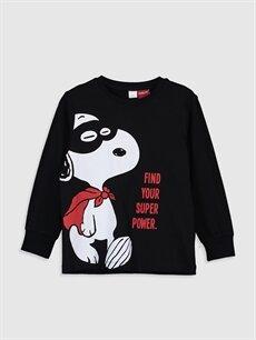 Erkek Çocuk Erkek Çocuk Snoopy Baskılı Pamuklu Pijama Takımı