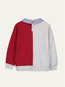 %49 Pamuk %51 Polyester  Kız Çocuk Baskılı Sweatshirt