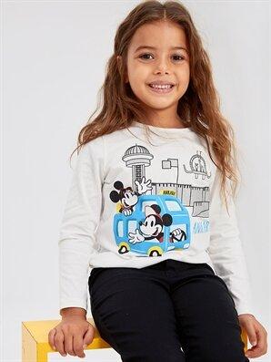 Kız Çocuk Minnie Mickey Mouse Pamuklu Tişört - LC WAIKIKI