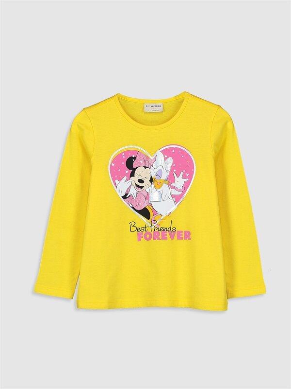 Kız Çocuk Minnie Mouse ve Daisy Duck Baskılı Tişört - LC WAIKIKI