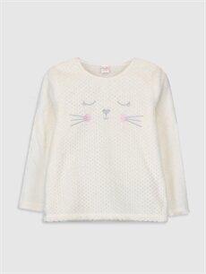 9WN051Z4 Kız Çocuk Pelüş Pijama Takımı