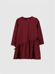 Kırmızı Kız Çocuk Flanel Ekose Elbise 9WN179Z4 LC Waikiki