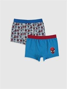 Beyaz Erkek Çocuk Spiderman Pamuklu Boxer 2'li 9WN211Z4 LC Waikiki