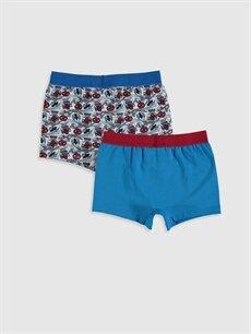 %95 Pamuk %5 Elastan Standart İç Giyim Alt Erkek Çocuk Spiderman Pamuklu Boxer 2'li