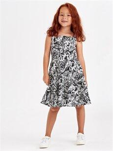 Kız Çocuk Kız Çocuk Askılı Pamuklu Elbise