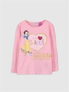 Pembe Kız Çocuk Pamuk Prenses Baskılı Pamuklu Tişört 9WP384Z4 LC Waikiki