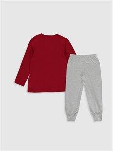 %100 Pamuk Pijamalar Standart Erkek Çocuk Galatasaray Amblemli Pamuklu Pijama Takımı