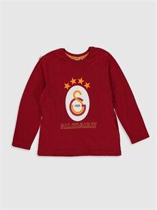 Erkek Çocuk Erkek Çocuk Galatasaray Amblemli Pamuklu Pijama Takımı