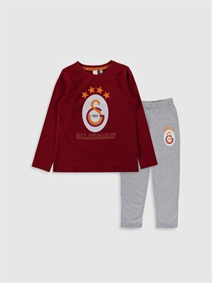 Kız Çocuk Galatasaray Amblemli Pamuklu Pijama Takımı - LC WAIKIKI