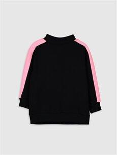 %69 Pamuk %31 Polyester  Kız Çocuk Yazı Baskılı Sweatshirt