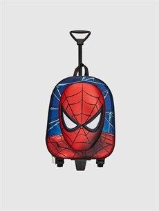 Çok Renkli Erkek Çocuk Spiderman Lisanslı Çekçekli Çanta