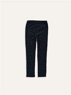 %65 Pamuk %31 Polyester %4 Elastan Normal Bel Standart Kız Çocuk Skinny Pantolon