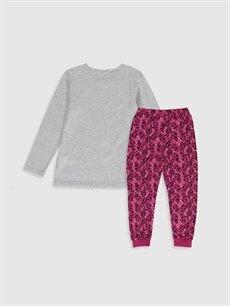 %68 Pamuk %32 Polyester Standart Pijamalar Kız Çocuk Lol Bebek Baskılı Pijama Takımı