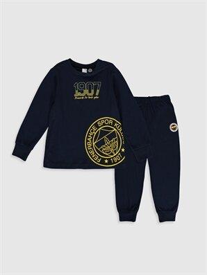 Erkek Çocuk Fenerbahçe Amblemli ve Baskılı Pijama Takımı - LC WAIKIKI