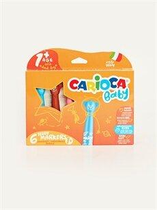 Çok Renkli Carioca Keçeli Boya Kalemi 6'lı 9WR905Z4 LC Waikiki