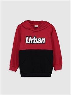 Kırmızı Erkek Çocuk Kapüşonlu Sweatshirt 9WR982Z4 LC Waikiki