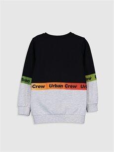 %69 Pamuk %31 Polyester  Erkek Çocuk Yazı Baskılı Sweatshirt