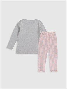 %50 Pamuk %50 Polyester Standart Pijamalar Kız Çocuk Elsa Baskılı Pijama Takımı