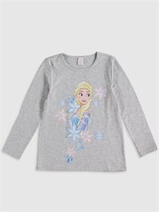 Kız Çocuk Kız Çocuk Elsa Baskılı Pijama Takımı
