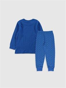 %100 Pamuk Standart Pijamalar Erkek Çocuk Zeytin Baskılı Pamuklu Pijama Takımı