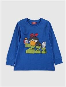Erkek Çocuk Erkek Çocuk Zeytin Baskılı Pamuklu Pijama Takımı