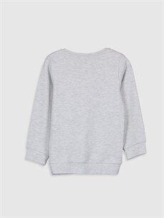 %68 Pamuk %32 Polyester Tişört Uzun Kol Baskılı Dar Bisiklet Yaka Erkek Çocuk Baskılı Uzun Kollu Tişört