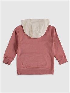 %70 Pamuk %30 Polyester  Kız Çocuk Kapüşonlu Sweatshirt