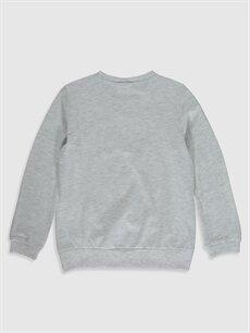 %61 Pamuk %39 Polyester Standart Baskılı Tişört Bisiklet Yaka Uzun Kol Kız Çocuk Baskılı Tişört