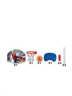 9WA066Z4 Dede Spiderman Ayaklı Basketbol Set