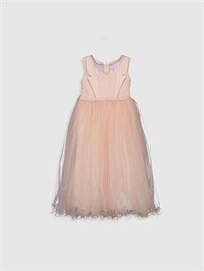 Pembe Daisy Girl Kız Çocuk Boncuk İşlemeli Abiye Elbise 9WB734Z4 LC Waikiki