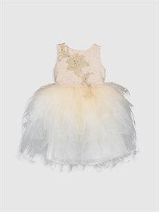 Daisy Girl Kız Çocuk Pelerinli Tüllü Abiye Elbise