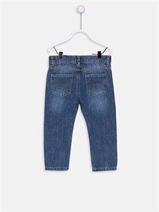 %100 Pamuk Normal Bel Normal Erkek Bebek Jean Pantolon