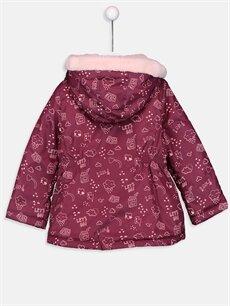 %100 Polyester %100 Polyester Mont Kız Bebek Baskılı Mont
